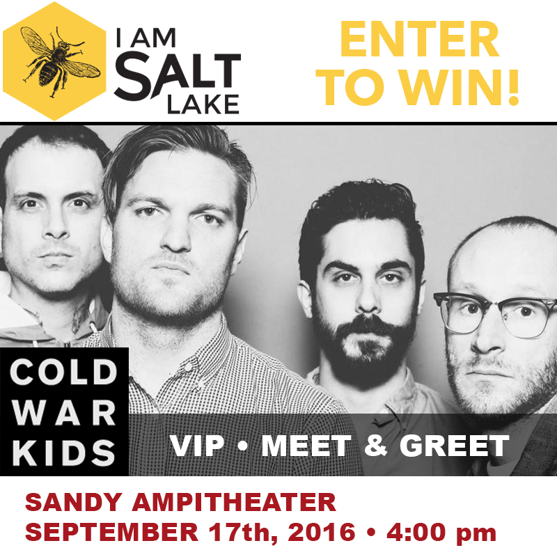 Win VIP tickets to a meet and greet with the Cold War Kids.  Sponsored by Wholly Guacamole and I am Salt Lake Podcast.
